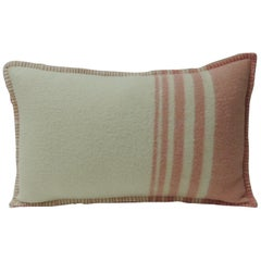Vintage Pink & Natural Stripes English Wool Decorative Lumbar Pillow