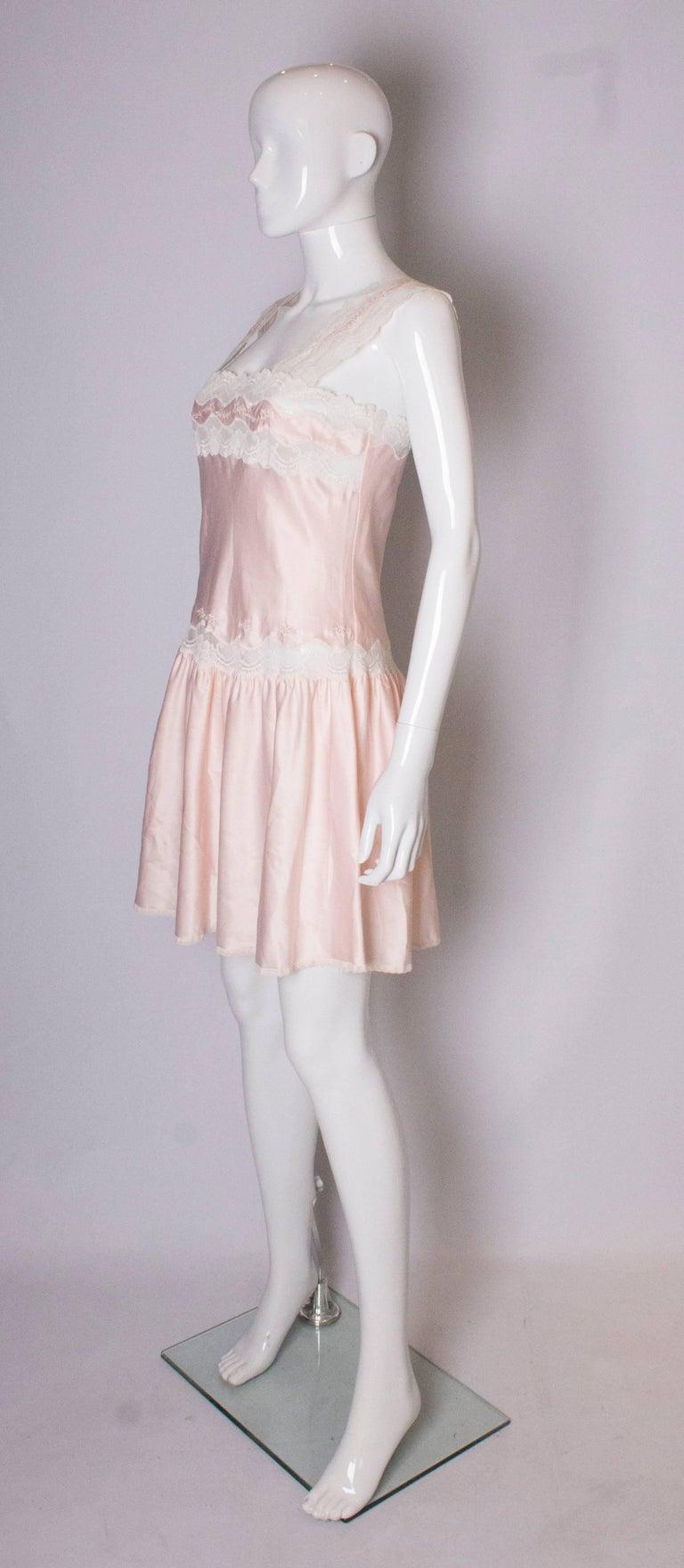 Beige Vintage Pink Nightdress or Dress For Sale