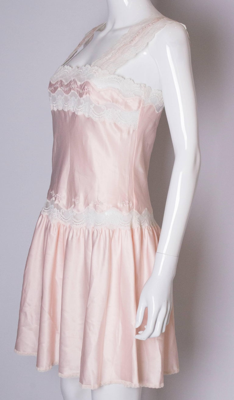 Vintage Pink Nightdress or Dress In Good Condition For Sale In London, GB
