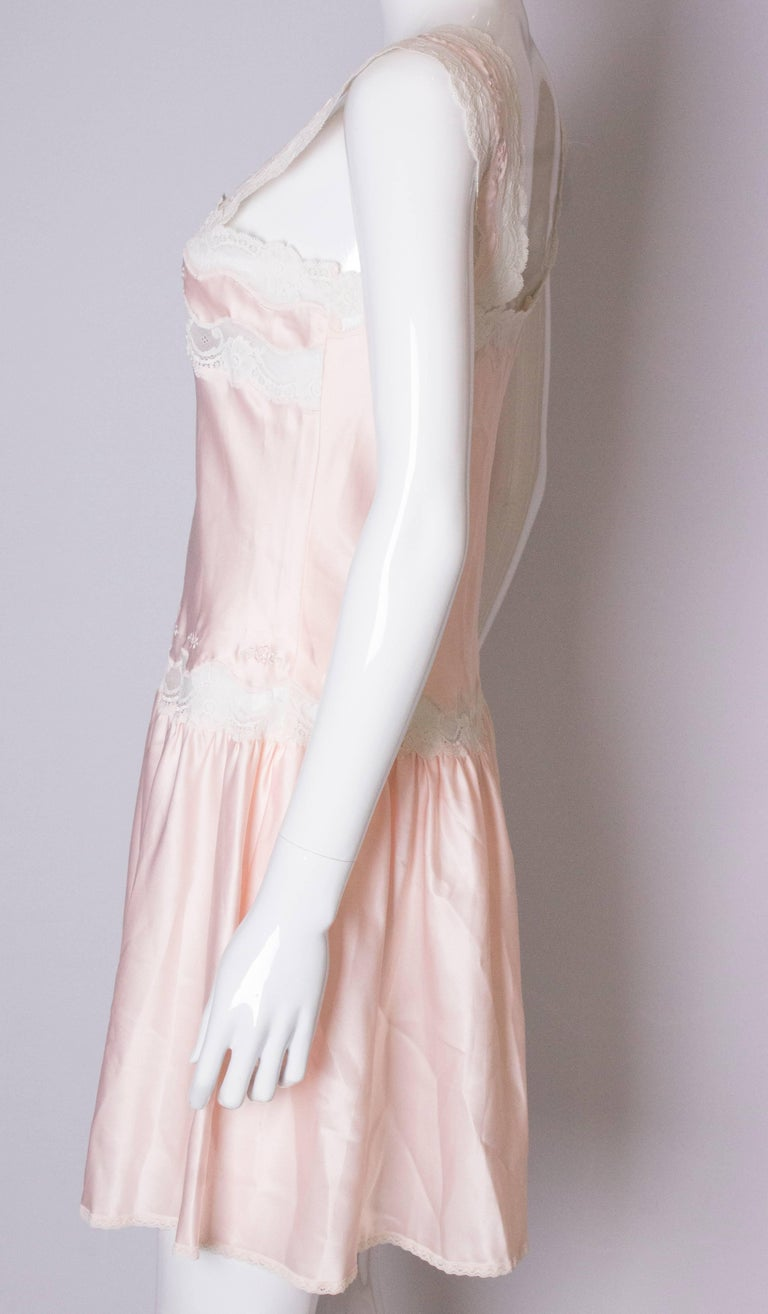 Vintage Pink Nightdress or Dress For Sale 1