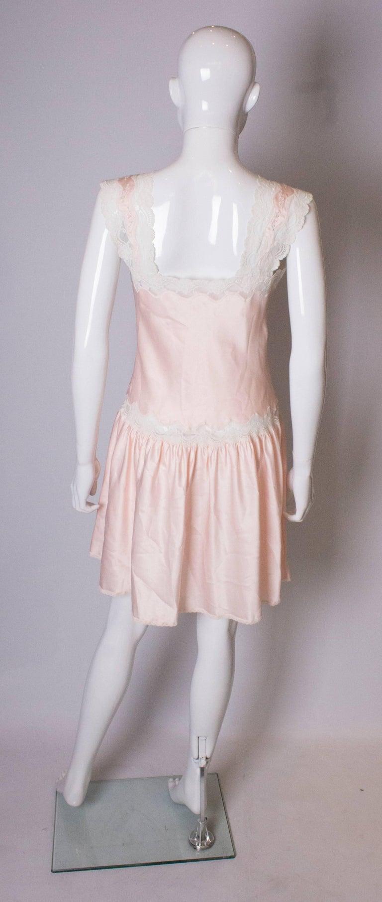 Vintage Pink Nightdress or Dress For Sale 2