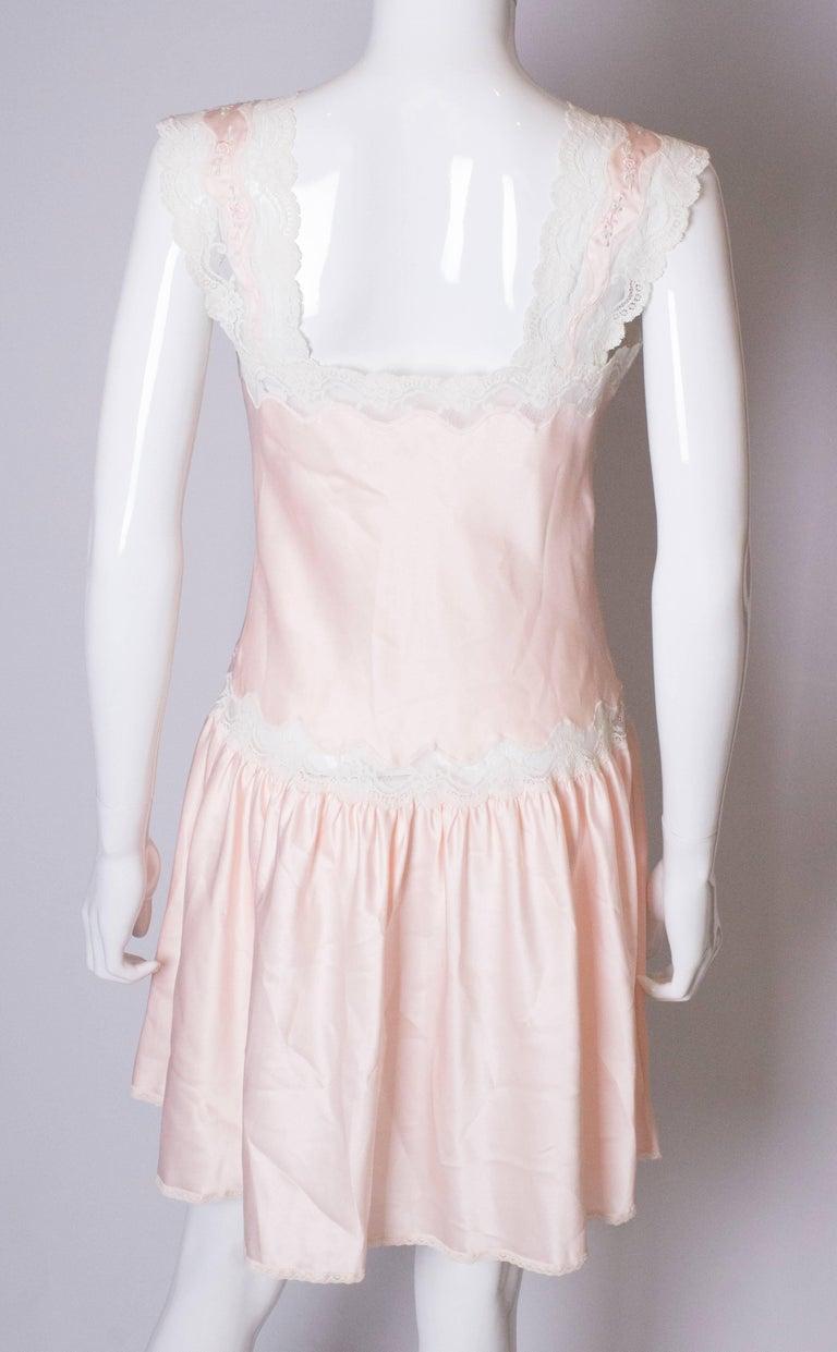 Vintage Pink Nightdress or Dress For Sale 3