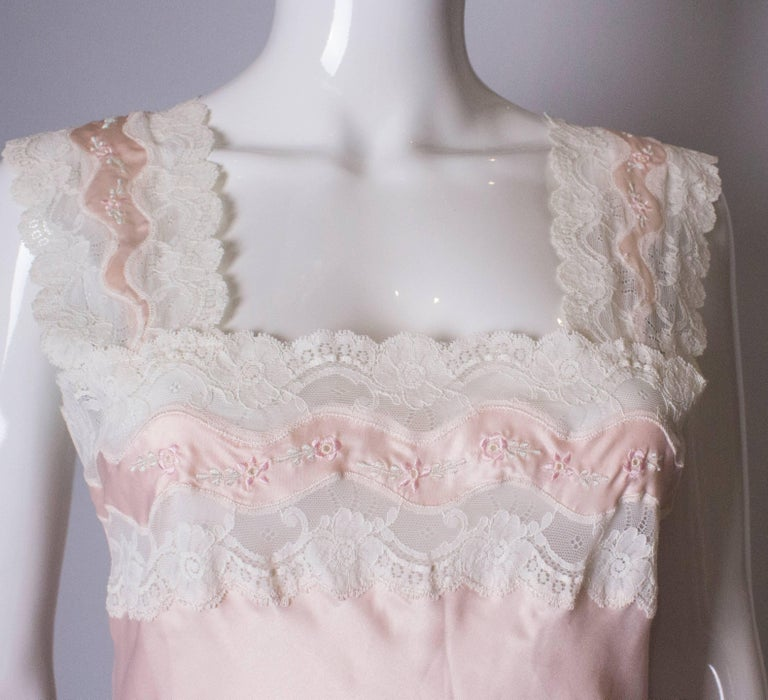Vintage Pink Nightdress or Dress For Sale 4