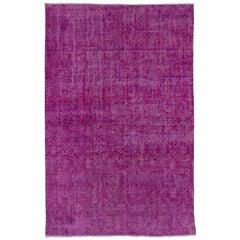 Vintage Pink Overdyed Sparta Rug, Subtle Pattern