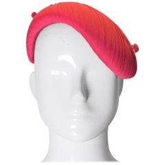 Vintage Pink Silk Chiffon Hat