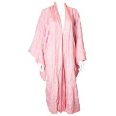 Vintage Pink Silk Kimono