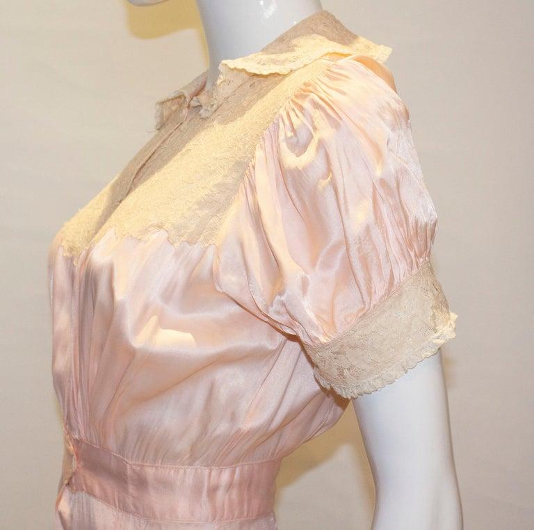 Vintage Pink Silk Satin Lingerie Jumpsuit For Sale 4