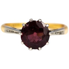 Vintage Pink Tourmaline and 18 Carat Gold Solitaire