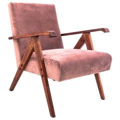 Vintage Pink Velvet Armchair