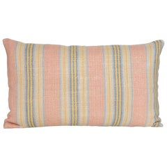 Vintage Pink Yellow Blue Argentinian Fabric with Irish Linen Cushion Pillow