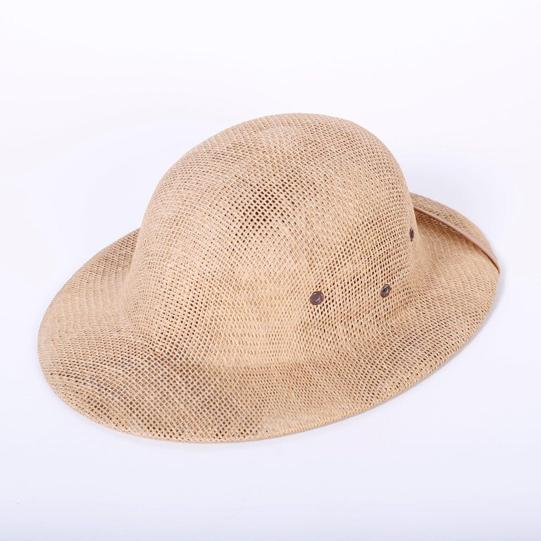 British Colonial Vintage Pith Helmet For Sale
