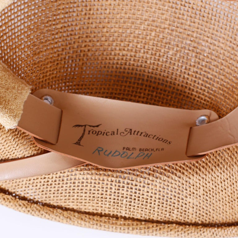 Woven Vintage Pith Helmet For Sale