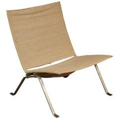 Vintage PK 22 Lounge Chair, Designed by Poul Kjaerholm, Denmark, 1950s