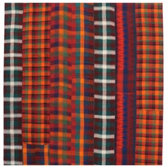 Vintage Plaid Kilim Rug with Luxe Ralph Lauren Style and Timeless Tartan Charm