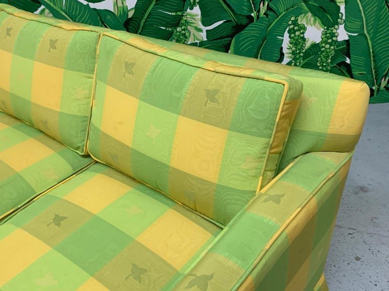 Mid-20th Century Vintage Plaid Sofa in the Style of Dorothy Draper For Sale