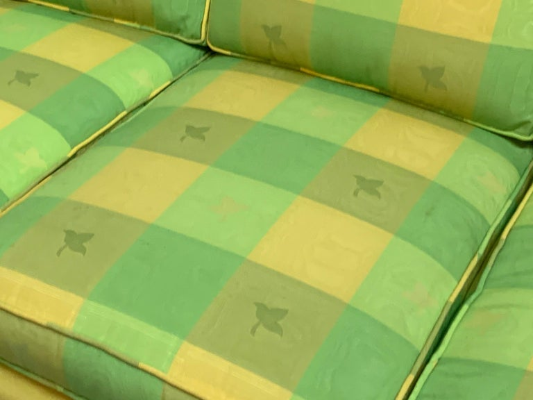 Vintage Plaid Sofa in the Style of Dorothy Draper For Sale 1