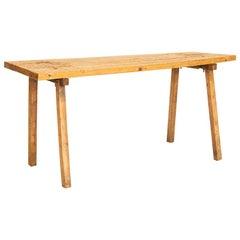 Vintage Plank Slab Wood Console Table