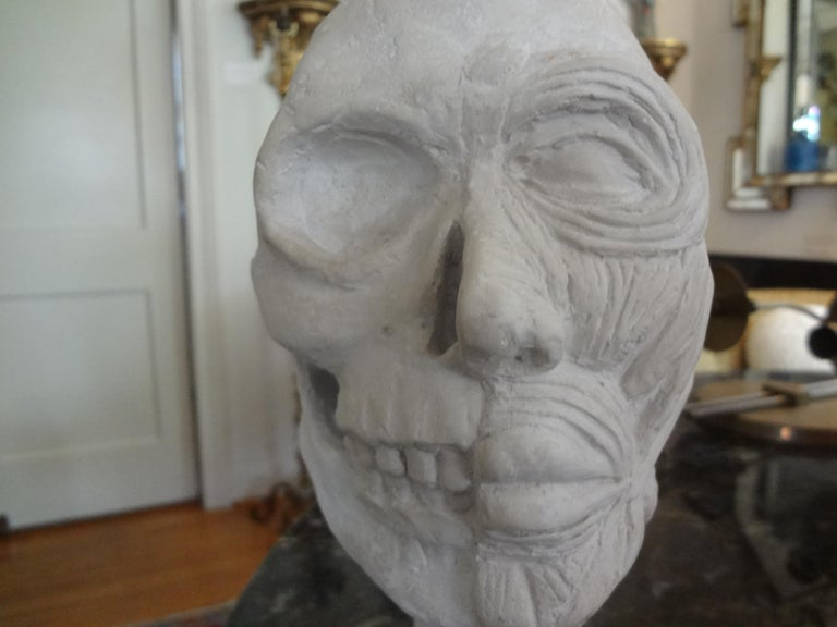 Vintage Plaster Anatomical Skull Models In Good Condition For Sale In Houston, TX