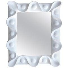 Vintage Plaster Mirror in the Manner of Serge Roche
