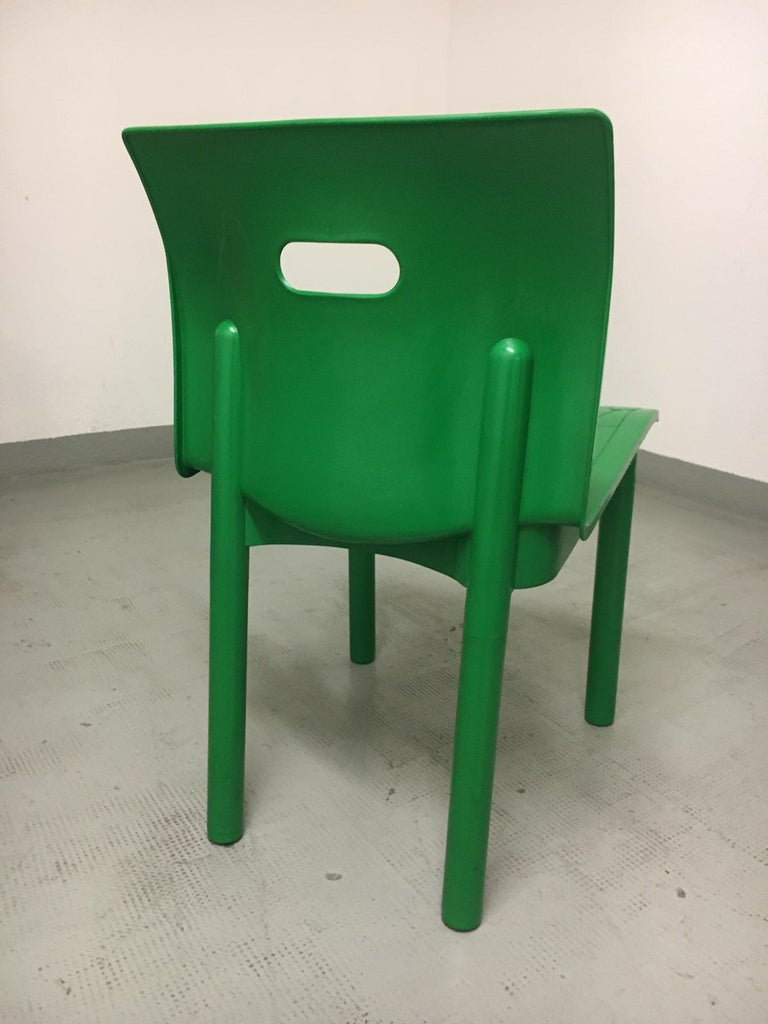 Italian Vintage Plastic Stackable Chair by Anna Castelli Ferrieri, Kartell, Italy, 1986 For Sale