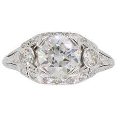 Vintage Platinum 1.40 Carat Diamond Engagement Ring