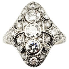 Vintage Platinum and Diamond Filigree Ring