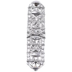 Vintage Platinum Diamond Bar Pin