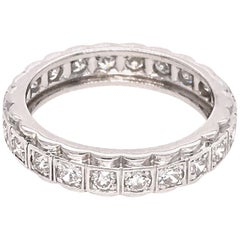 Vintage Platinum Diamond Eternity Band Ring