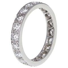 Vintage Platinum Diamond Full Hoop Eternity Ring