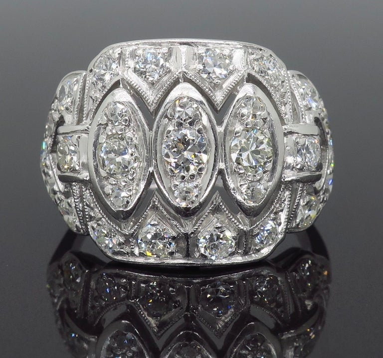 Vintage Platinum and Diamond Ring 1