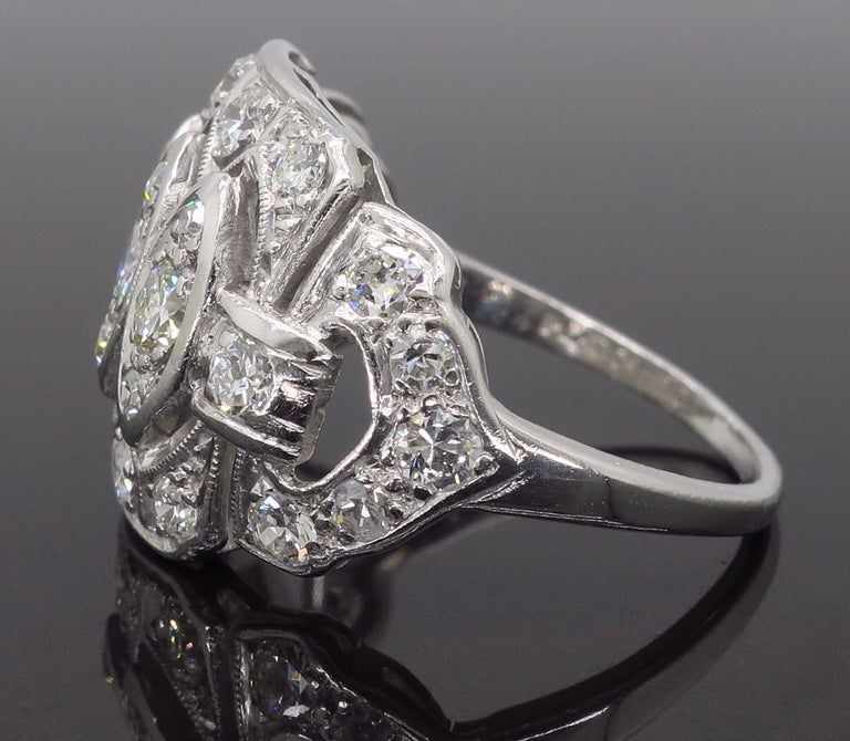 Vintage Platinum and Diamond Ring 3