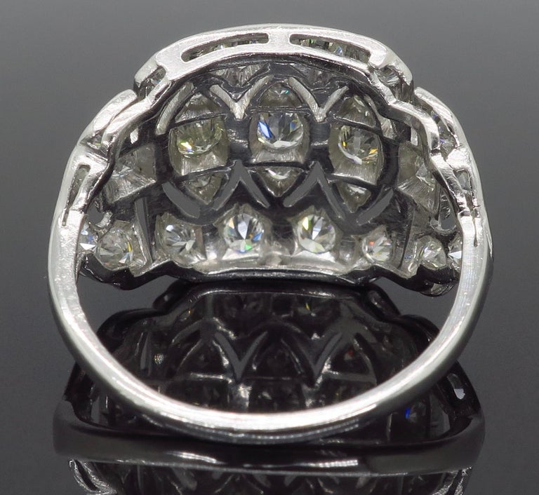 Vintage Platinum and Diamond Ring 4