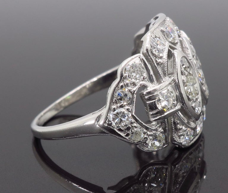 Vintage Platinum and Diamond Ring 5