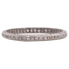Vintage Platinum Eternity Band With 0.2 Carat of Diamonds