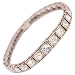 Vintage Platinum Graduated Diamond Tennis Bracelet