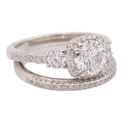 Vintage Platinum Tacori Engagement Ring