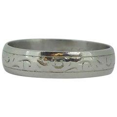 Vintage Platinum Wedding Ring, Birmingham, 1975