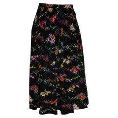 Vintage Pleated Floral Yves Saint Laurent  Rive Gauche Skirt