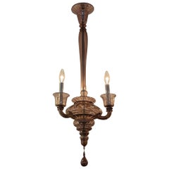 Vintage Plum Colored Murano Glass Chandelier