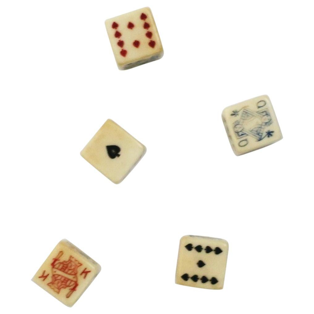 Vintage Poker Dice Set