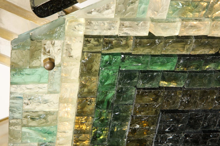 Vintage Poliarte Verona Hexagon Flush-Mount Ceiling Light For Sale 5