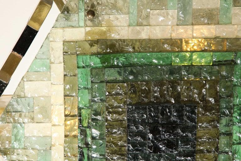 Vintage Poliarte Verona Hexagon Flush-Mount Ceiling Light For Sale 6