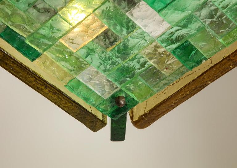 Vintage Poliarte Verona Square Flush-Mount Ceiling Light For Sale 2