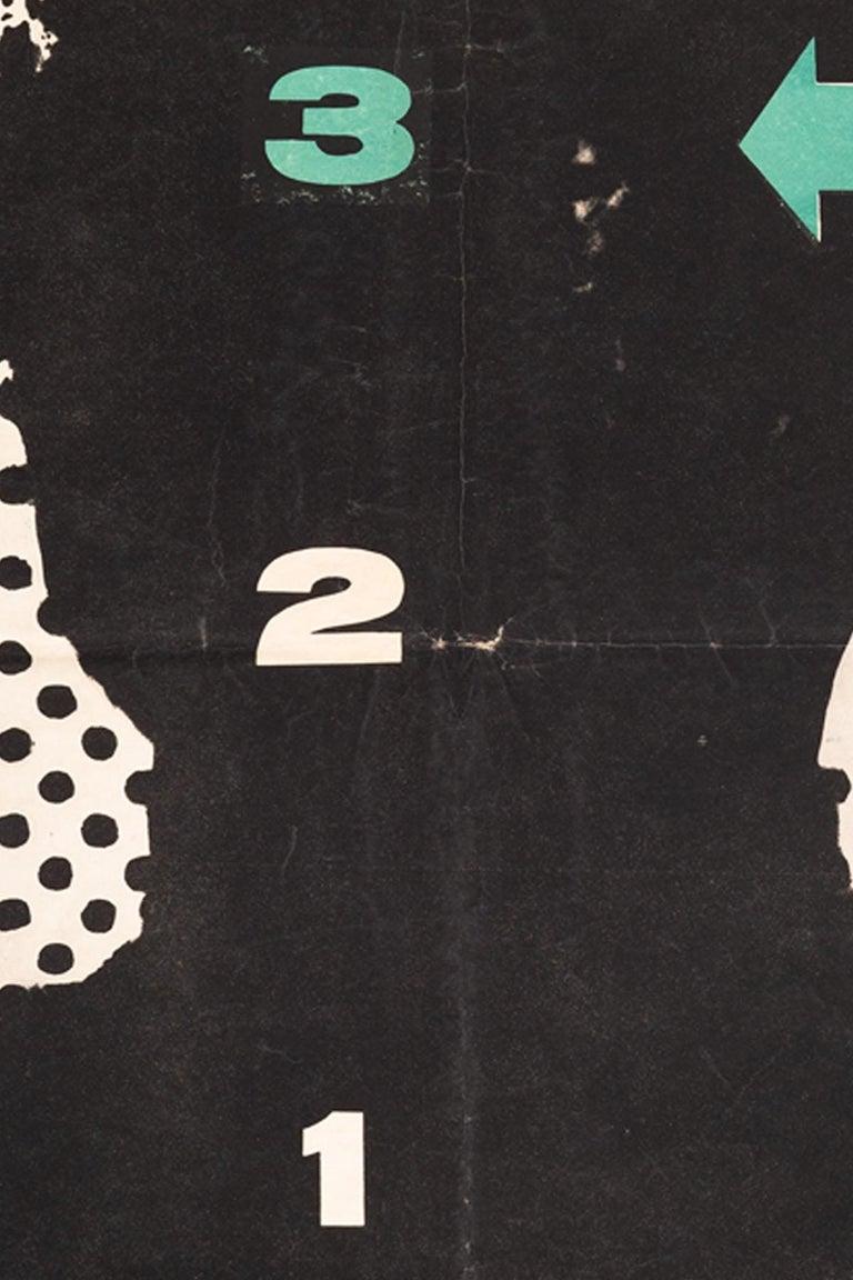 Other Vintage Polish Ascenseur pour l'Echafaud Poster by Jan Lenica for CWF, 1958 For Sale