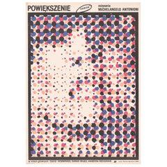 Vintage Polish Blow Up Poster by Waldermar Swierzy, 1987