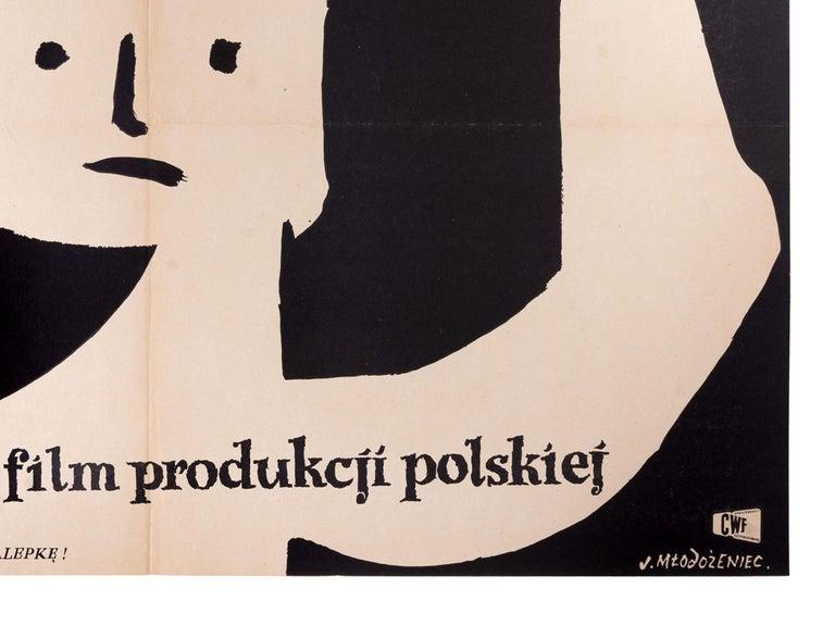 Other Vintage Polish Koniec Nocy Movie Poster by Jan Młodożeniec for CWF, 1956 For Sale