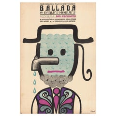 Vintage Polish The Ballad of Cable Hogue Poster by Jerzy Flisak, 1972