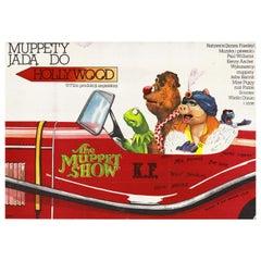 Vintage Polish The Muppet Movie Poster by Andrzej Pągowski for XRF, 1982