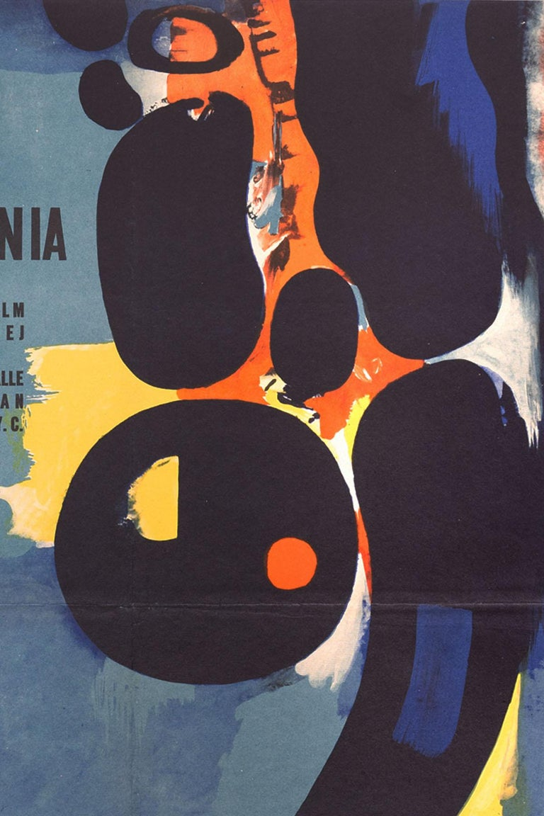 This original Polish The Silent World movie poster was designed by Wojciech Fangor in 1958.  The Silent World (French: Le Monde du silence) is a 1956 French documentary film co-directed by the famed French oceanographer Jacques Cousteau and a