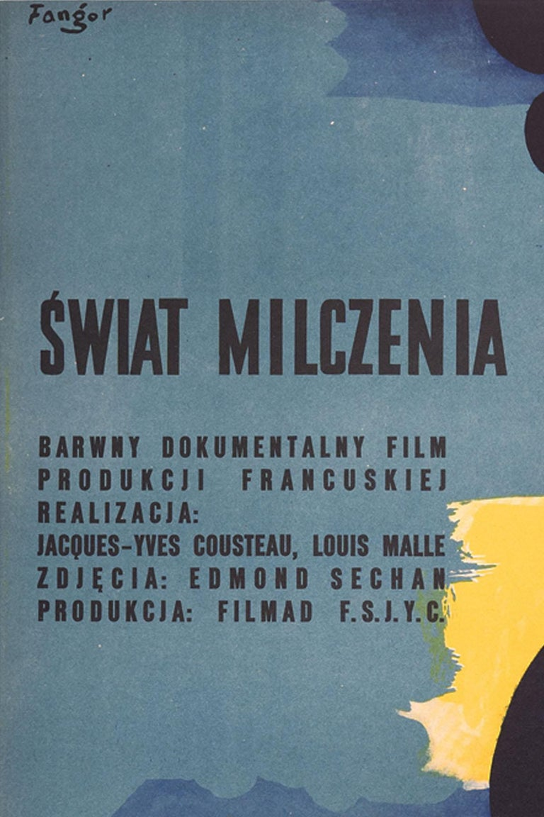 Other Vintage Polish The Silent World Movie Poster by Wojciech Fangor for CWF, 1958 For Sale